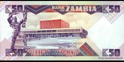 Zambie - p28 - 50 Kwacha - ND (1986 - 1988) - Bank of Zambia