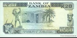 Zambie - p32b - 20 Kwacha - ND (1989 - 1991) - Bank of Zambia