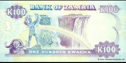 Zambie - p34 - 100 Kwacha - ND (1991) - Bank of Zambia