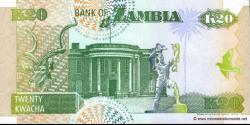 Zambie - p36b - 20 Kwacha - 1992 - Bank of Zambia