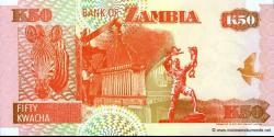 Zambie - p37b - 50 Kwacha - 1992 - Bank of Zambia