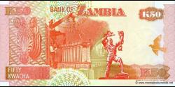 Zambie - p37c - 50 Kwacha - 2001 - Bank of Zambia