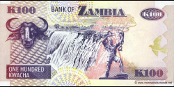 Zambie - p38a - 100 Kwacha - 1992 - Bank of Zambia