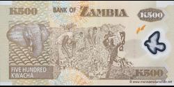 Zambie - p43f - 500 Kwacha - 2008 - Bank of Zambia