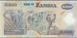 Zambie - p43g - 500 Kwacha - 2009 - Bank of Zambia