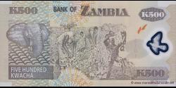 Zambie - p43h - 500 Kwacha - 2011 - Bank of Zambia