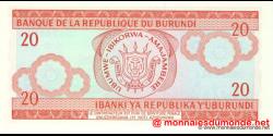 Burundi - p27d - 20 Francs - 05.02.2005 - Banque de la République du Burundi / Ibanki ya Republika y'Uburundi