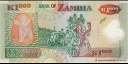 Zambie - p44g - 1.000 Kwacha - 2009 - Bank of Zambia