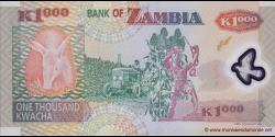 Zambie - p44h - 1.000 Kwacha - 2011 - Bank of Zambia