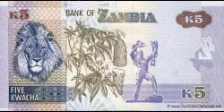 Zambie - p50a - 5 Kwacha - 2012 - Bank of Zambia