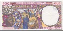 Cameroun - P204Eg - 5.000 Francs - 2002 - Banque des États de l'Afrique Centrale