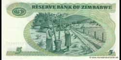 Zimbabwe - p02c - 5 Dollars - 1983 - Reserve Bank of Zimbabwe