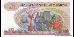 Zimbabwe - p03d - 10 Dollars - 1983 - Reserve Bank of Zimbabwe