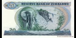 Zimbabwe - p04c - 20 Dollars - 1983 - Reserve Bank of Zimbabwe