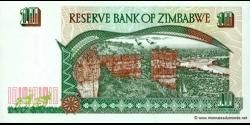 Zimbabwe - p06 - 10 Dollars - 1997 - Reserve Bank of Zimbabwe