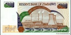 Zimbabwe - p11a - 500 Dollars - 2001 - Reserve Bank of Zimbabwe