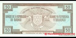 Burundi - p28c - 50 Francs - 01.05.1993 - Banque de la République du Burundi / Ibanki ya Republika y'Uburundi