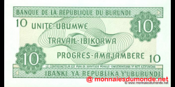 Burundi - p33d - 10 Francs - 01.08.2001 - Banque de la République du Burundi / Ibanki ya Republika y'Uburundi