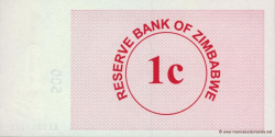 Zimbabwe - p33 - 1 Cent - 01.08.2006 - Reserve Bank of Zimbabwe