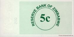 Zimbabwe - p34 - 5 Cents - 01.08.2006 - Reserve Bank of Zimbabwe