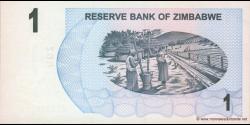Zimbabwe - p37 - 1 Dollar - 01.08.2006 - Reserve Bank of Zimbabwe