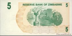 Zimbabwe - p38 - 5 Dollars - 01.08.2006 - Reserve Bank of Zimbabwe