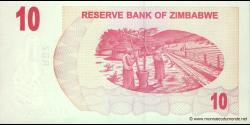 Zimbabwe - p39 - 10 Dollars - 01.08.2006 - Reserve Bank of Zimbabwe