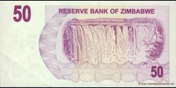 Zimbabwe - p41 - 50 Dollars - 01.08.2006 - Reserve Bank of Zimbabwe