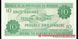Burundi - p33e - 10 Francs - 05.02.2005 - Banque de la République du Burundi / Ibanki ya Republika y'Uburundi