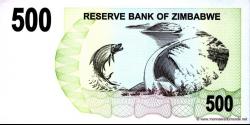 Zimbabwe - p43 - 500 Dollars - 01.08.2006 - Reserve Bank of Zimbabwe