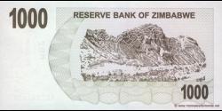 Zimbabwe - p44 - 1.000 Dollars - 01.08.2006 - Reserve Bank of Zimbabwe