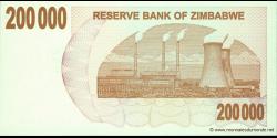 Zimbabwe - p49 - 200.000 Dollars - 01.07.2007 - Reserve Bank of Zimbabwe