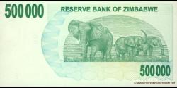 Zimbabwe - p51 - 500.000 Dollars - 01.07.2007 - Reserve Bank of Zimbabwe