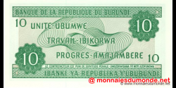Burundi - p33e2 - 10 Francs - 01.11.2007 - Banque de la République du Burundi / Ibanki ya Republika y'Uburundi