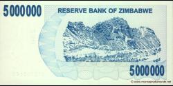 Zimbabwe - p54 - 5.000.000 Dollars - 01.02.2008 - Reserve Bank of Zimbabwe