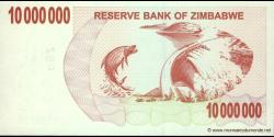 Zimbabwe - p55b - 10.000.000 Dollars - 01.01.2008 - Reserve Bank of Zimbabwe