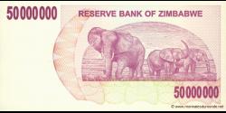 Zimbabwe - p57 - 50.000.000 Dollars - 02.04.2008 - Reserve Bank of Zimbabwe