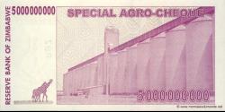 Zimbabwe - p61 - 5.000.000.000 Dollars - 15.05.2008 - Reserve Bank of Zimbabwe