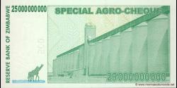 Zimbabwe - p62 - 25.000.000.000 Dollars - 15.05.2008 - Reserve Bank of Zimbabwe