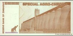 Zimbabwe - p63 - 50.000.000.000 Dollars - 15.05.2008 - Reserve Bank of Zimbabwe