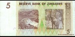 Zimbabwe - p66 - 5 Dollars - 2007 - Reserve Bank of Zimbabwe