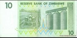 Zimbabwe - p67 - 10 Dollars - 2007 - Reserve Bank of Zimbabwe