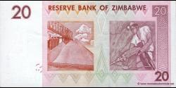 Zimbabwe - p68 - 20 Dollars - 2007 - Reserve Bank of Zimbabwe