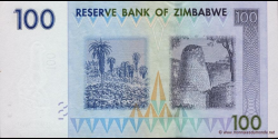 Zimbabwe - p69 - 100 Dollars - 2007 - Reserve Bank of Zimbabwe