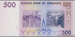 Zimbabwe - p70 - 500 Dollars - 2007 - Reserve Bank of Zimbabwe