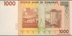 Zimbabwe - p71 - 1.000 Dollars - 2007 - Reserve Bank of Zimbabwe
