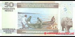 Burundi - p36g - 50 Francs - 01.11.2007 - Banque de la République du Burundi / Ibanki ya Republika y'Uburundi
