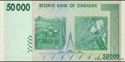 Zimbabwe - p74a - 50.000 Dollars - 2008 - Reserve Bank of Zimbabwe