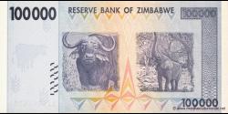 Zimbabwe - p75 - 100.000 Dollars - 2008 - Reserve Bank of Zimbabwe