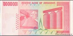 Zimbabwe - p80 - 100.000.000 Dollars - 2008 - Reserve Bank of Zimbabwe